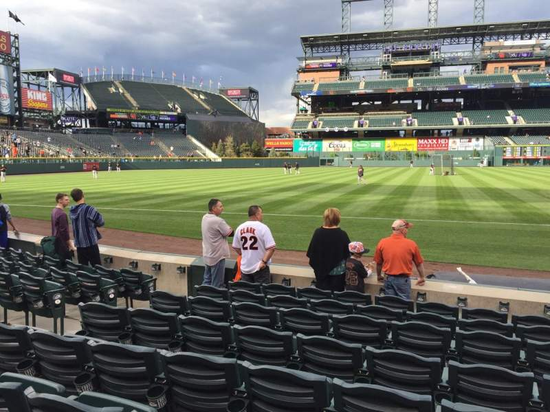 Seating view for Coors Field Section 142 Row 8 Seat 8