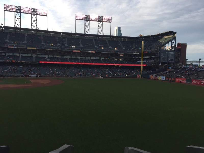Seating view for AT&T Park Section 148 Row 1 Seat 21
