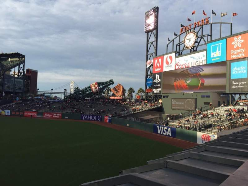 Seating view for Oracle Park Section 148 Row 1 Seat 21