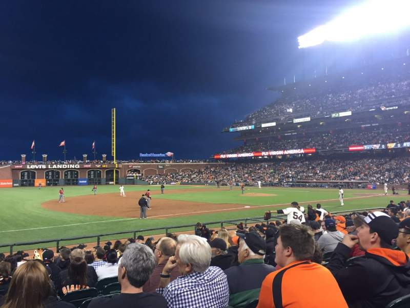 Seating view for Oracle Park Section 126 Row 14 Seat 13