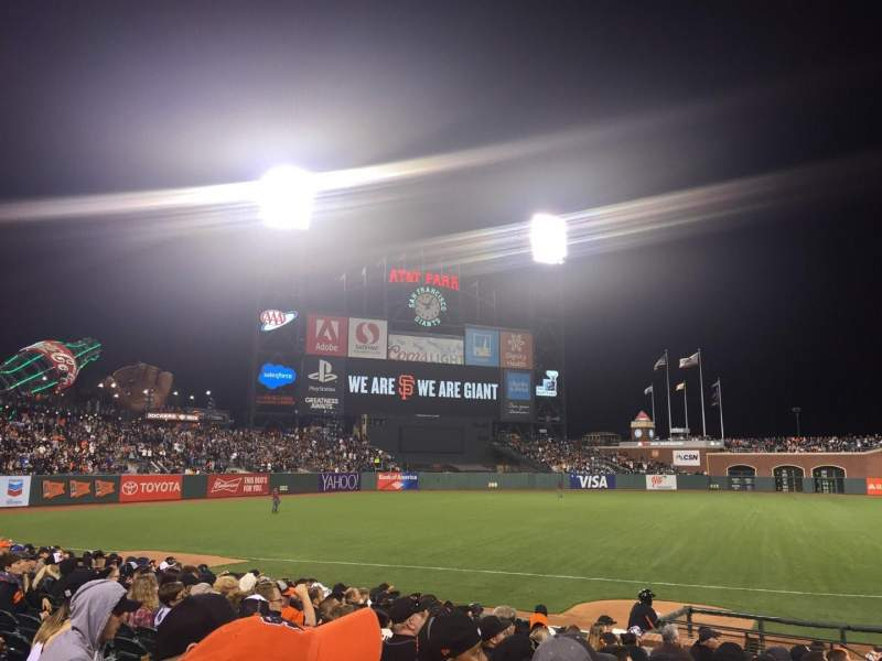 Seating view for AT&T Park Section 126 Row 14 Seat 13