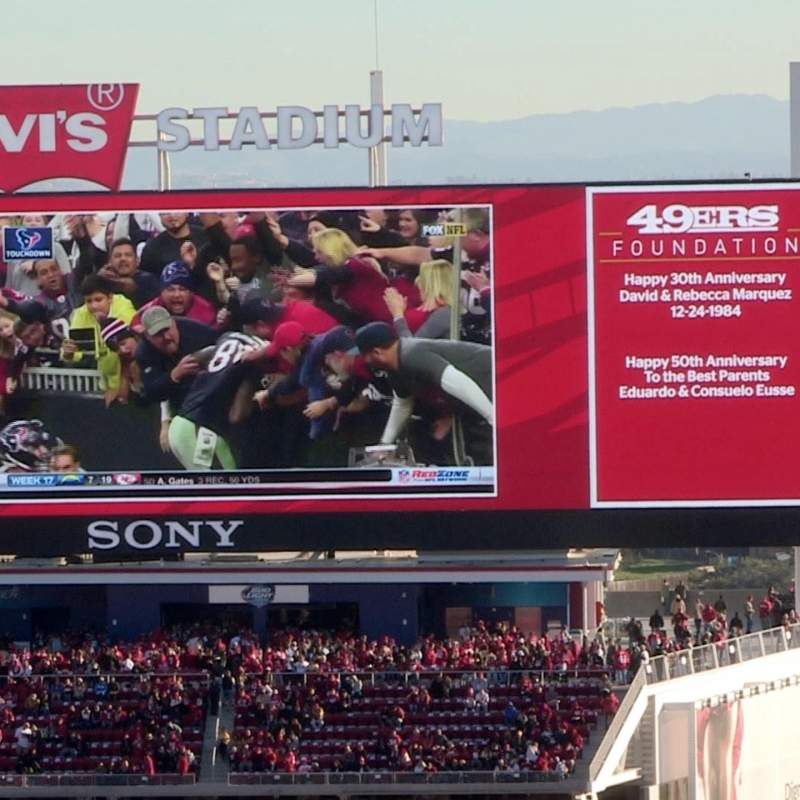 Seating view for Levi's Stadium Section C240 Row 1 Seat 5-6