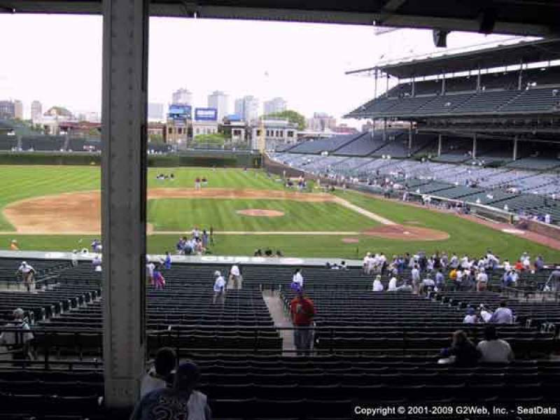 Seating view for Wrigley Field Section 212 Row 9 Seat 16