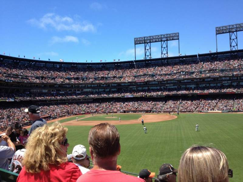 Seating view for AT&T park Section 147 Row 7