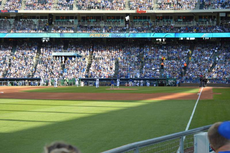 Seating view for Kauffman Stadium Section 108 Row L Seat 5