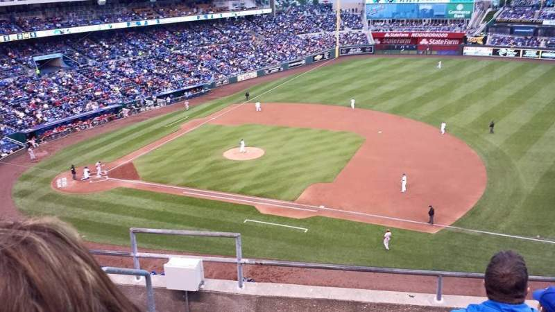 Seating view for Kauffman Stadium Section 431 Row F Seat 1