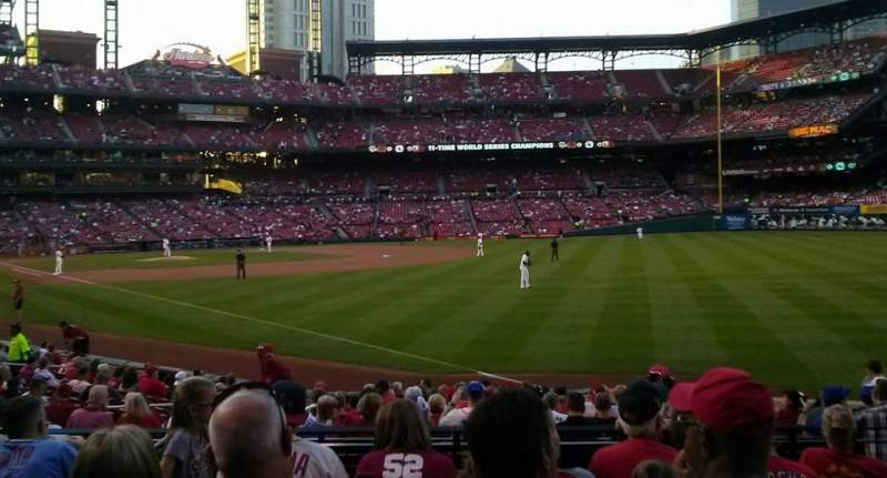 Seating view for Busch Stadium Section 132 Row 9 Seat 6