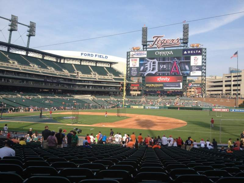 Seating view for Comerica Park Section 119 Row 30 Seat 6