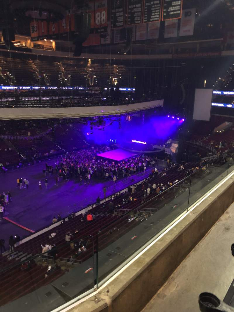 Seating view for Wells Fargo Center Section 211 Row 2 Seat 1-4