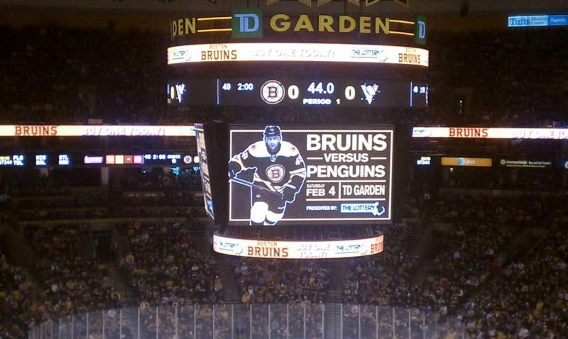 Seating view for TD Garden Section Bal 306 Row 2 Seat 12