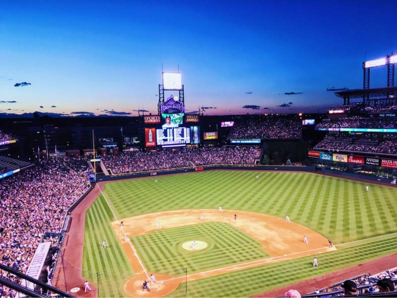 Seating view for Coors Field Section U327 Row 11 Seat 15