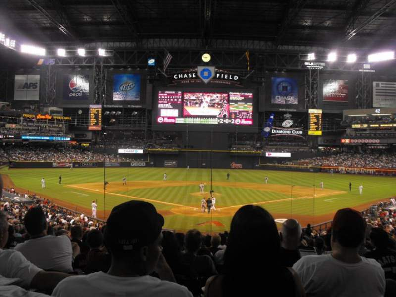 Seating view for Chase Field Section 122 Row 35