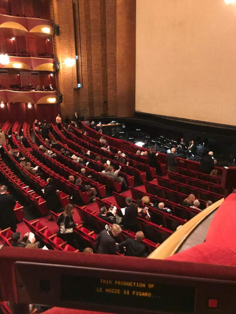 Seating view for Metropolitan Opera House - Lincoln Center Section Parterre Row Box 10 Seat 3