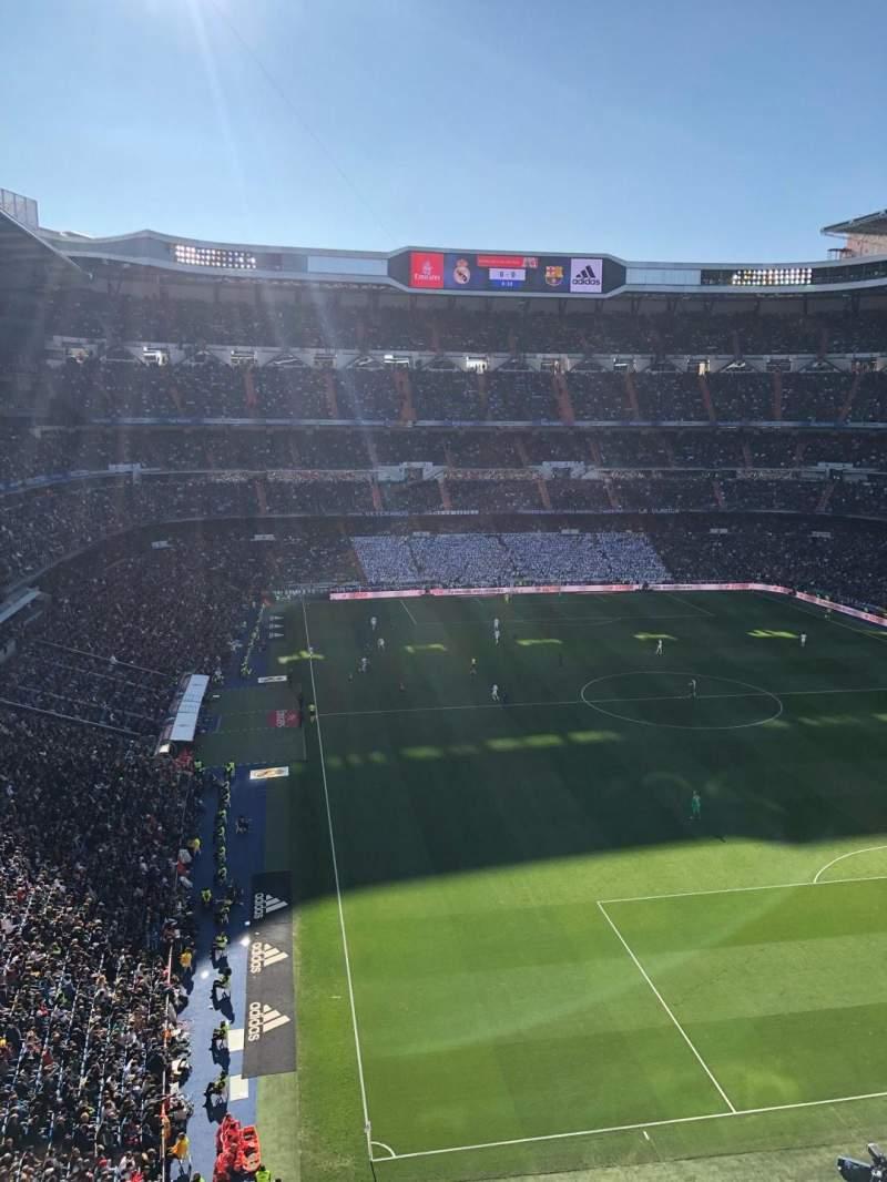 Seating view for Santiago Bernabéu Stadium Section 529 Row 1 Seat 14