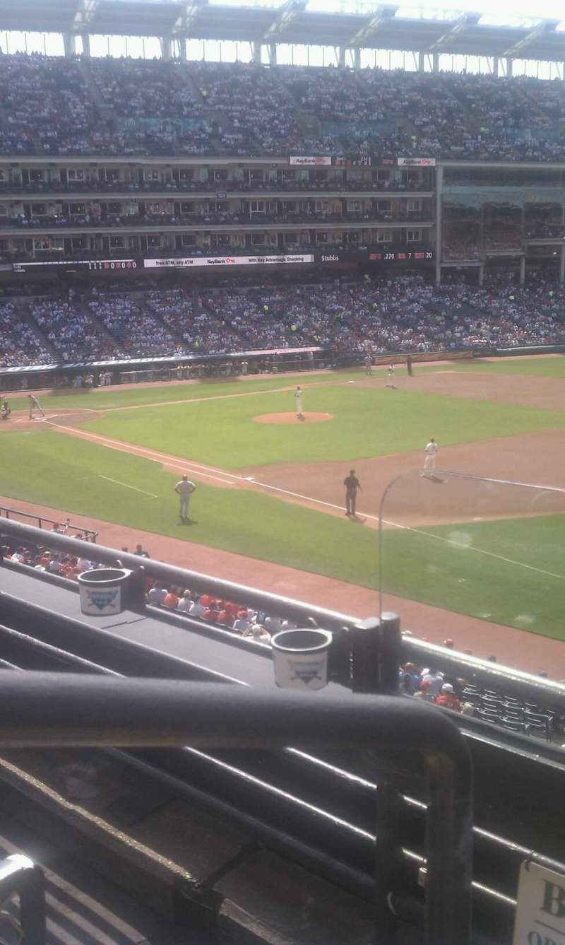 Seating view for Progressive Field Section 334 Row A Seat 1