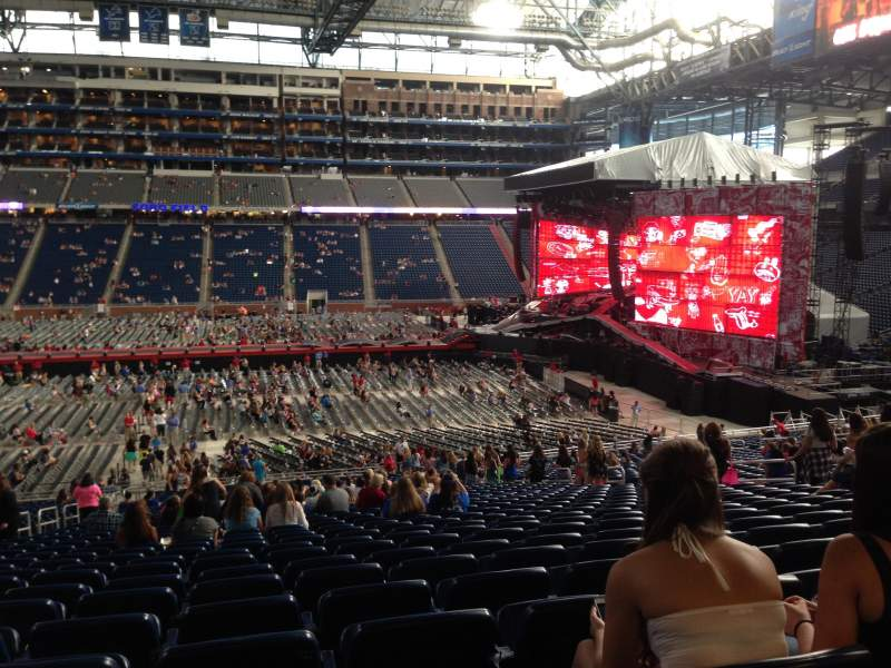 ford field section 128 row 34 seat 12 one direction. Black Bedroom Furniture Sets. Home Design Ideas