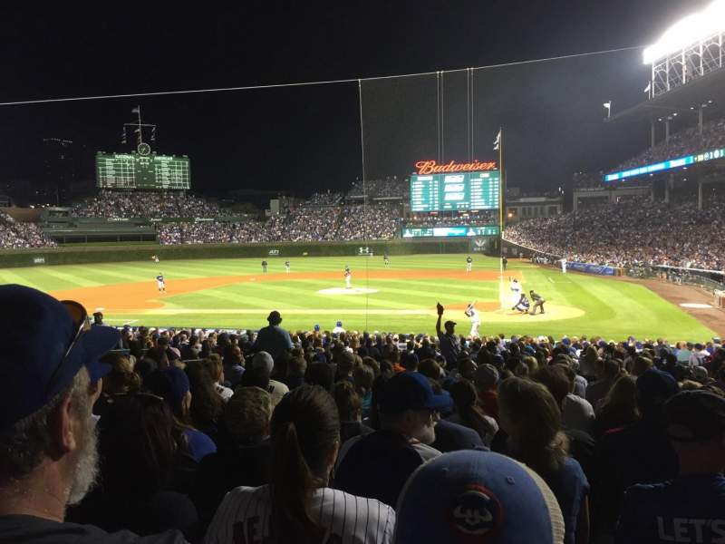 Seating view for Wrigley Field Section 117 Row 13 Seat 108
