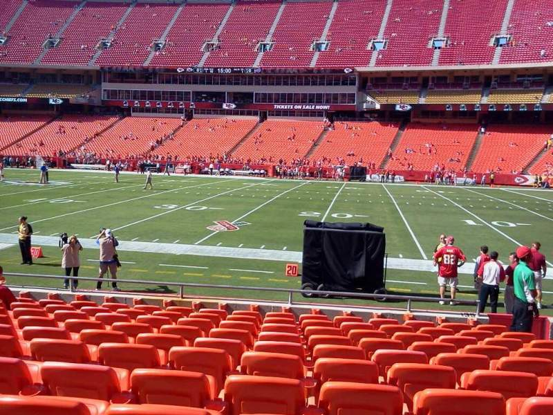Seating view for Arrowhead Stadium Section 135 Row 11 Seat 7