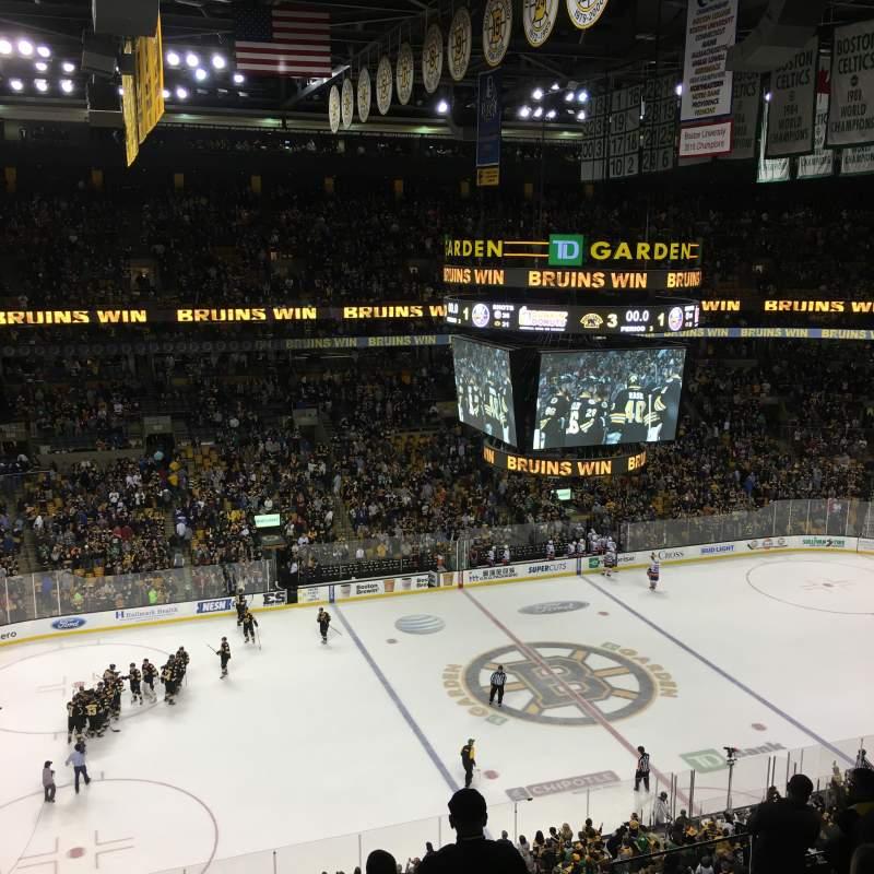 Td Garden Section Bal 318 Home Of Boston Bruins Boston