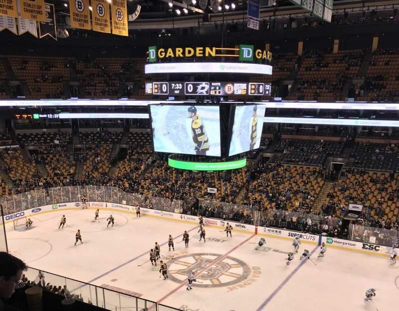 TD Garden, section: BAL 314, row: 3, seat: 9