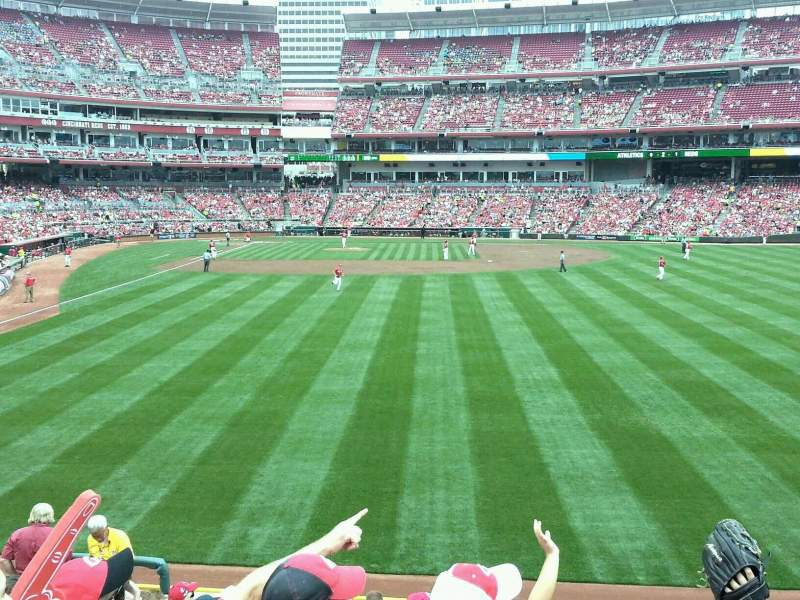 Seating view for Great American Ball Park Section 141 Row K Seat 16