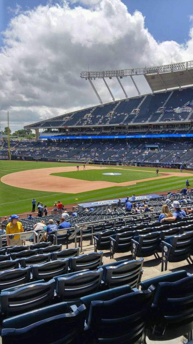 Seating view for Kauffman Stadium Section 214 Row JJ Seat 9