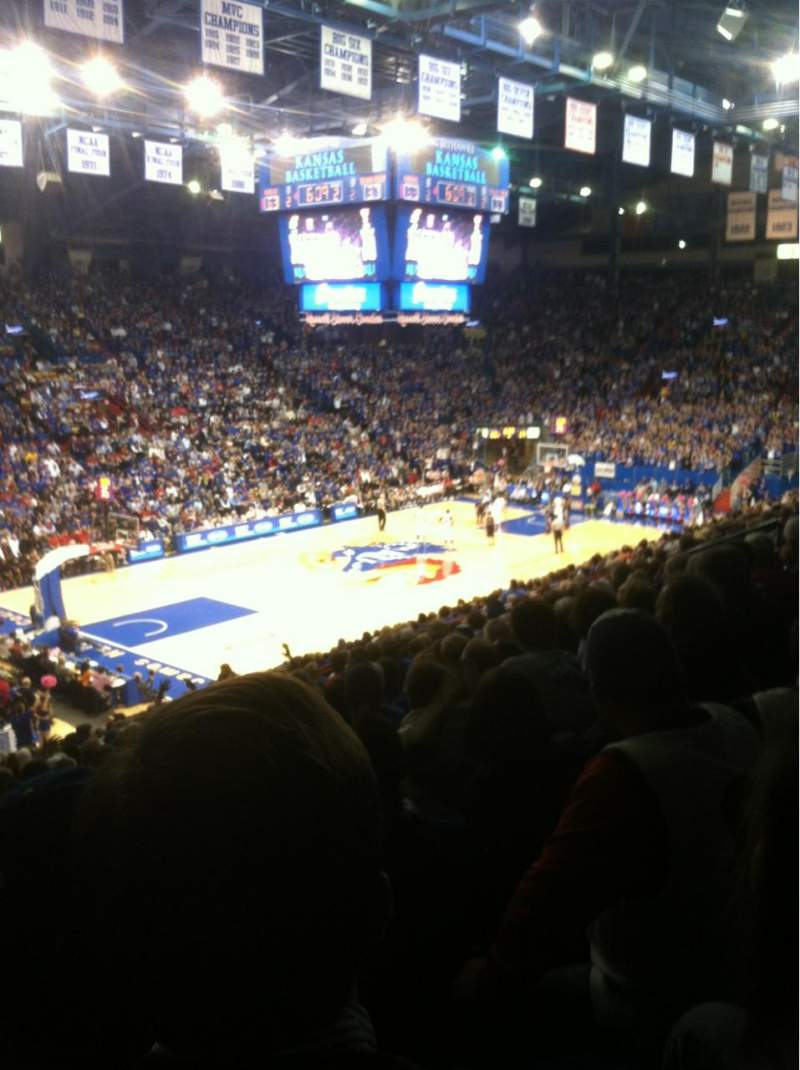 Seating view for Allen Fieldhouse Section 9 Row 17 Seat 20