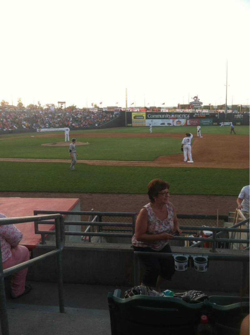 Seating view for CommunityAmerica Ballpark Section 109 Row 8 Seat 1-4