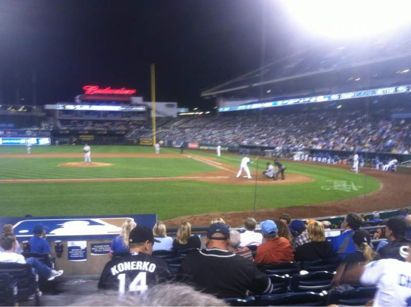Seating view for Kauffman Stadium Section 123 Row J Seat 1-4