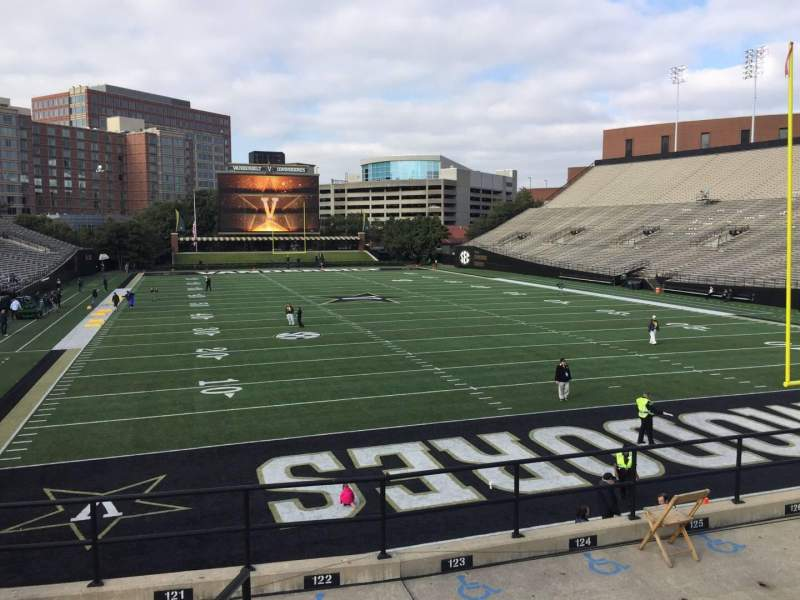 Seating view for Vanderbilt Stadium Section J Row 8 Seat 1