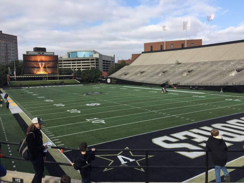 Seating view for Vanderbilt Stadium Section I Row 5 Seat 5