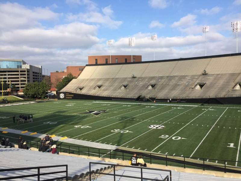 Vanderbilt Stadium, section: G, row: 30, seat: 1