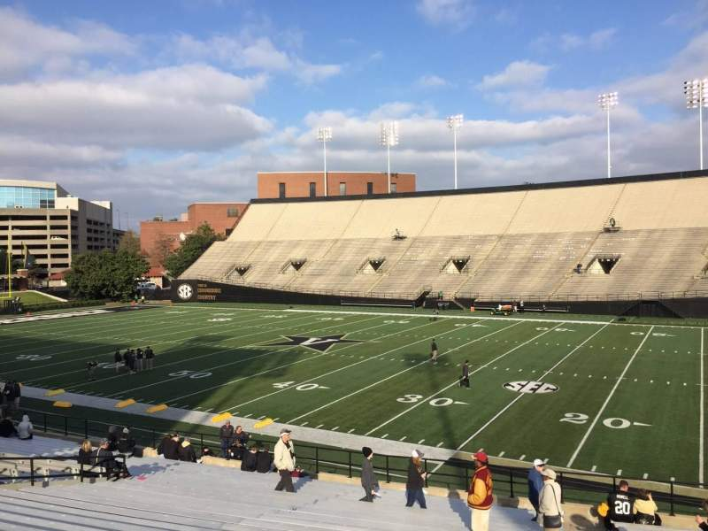 Seating view for Vanderbilt Stadium Section F Row 30 Seat 24