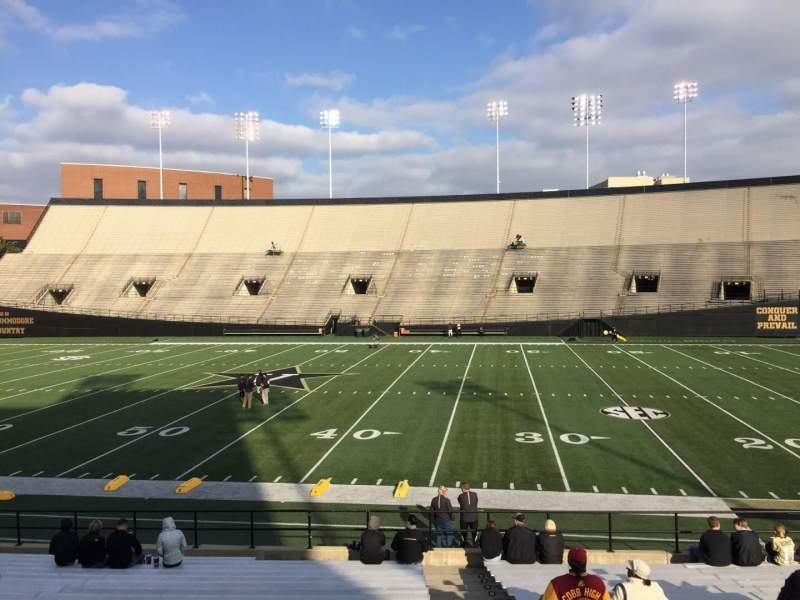 Seating view for Vanderbilt Stadium Section E Row 19 Seat 18