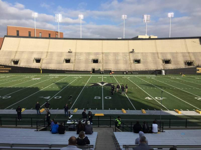 Seating view for Vanderbilt Stadium Section D Row 18 Seat 7
