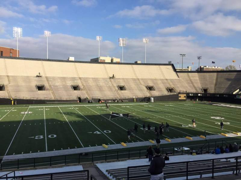 Seating view for Vanderbilt Stadium Section C Row 25 Seat 8