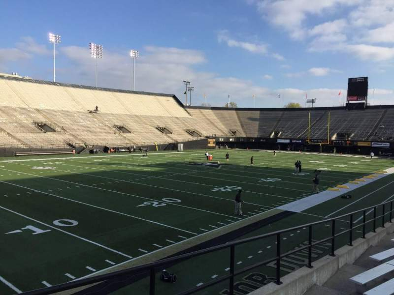 Seating view for Vanderbilt Stadium Section A Row 16 Seat 18