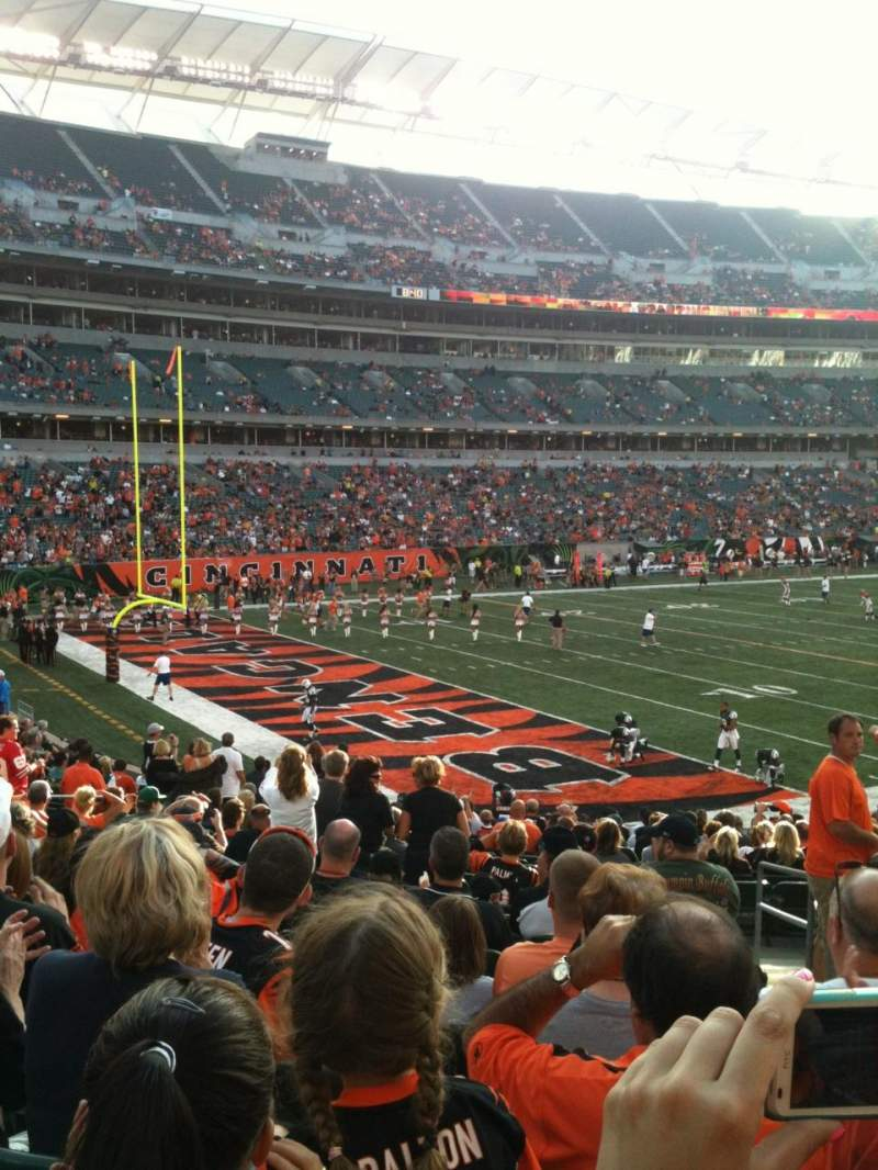 Seating view for Paul Brown Stadium Section 149 Row 24 Seat 2