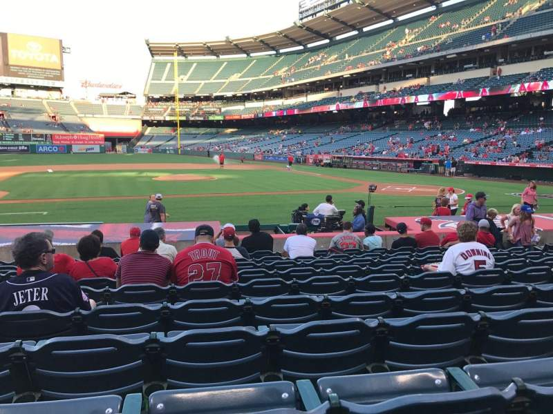Angel Stadium, section: F112, row: M, seat: 8