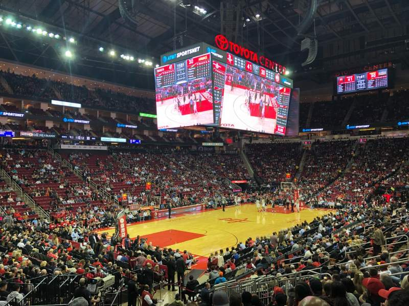 Seating view for Toyota Center Section 111 Row 24 Seat 14