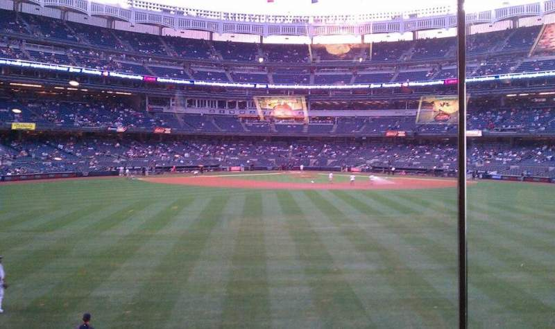 Seating view for Yankee Stadium Section Mohegan Sun Sports Bar Row 1 Seat 1