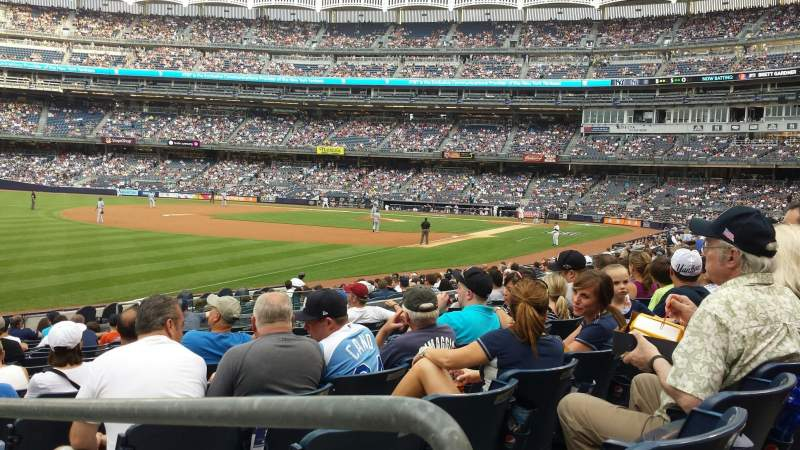 Seating view for Yankee Stadium Section 130 Row 22 Seat 22
