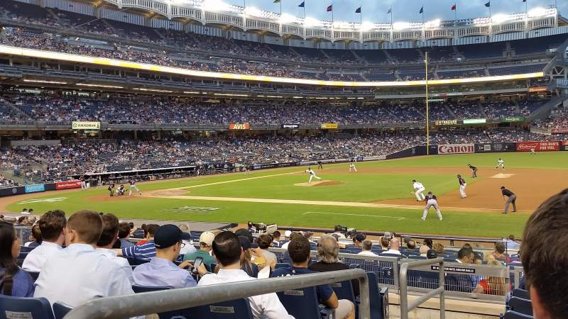 Seating view for Yankee Stadium Section 114B Row 17 Seat 16