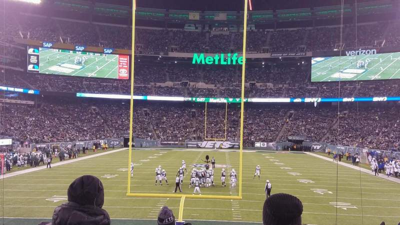 Seating view for MetLife Stadium Section 101 Row 18 Seat 10