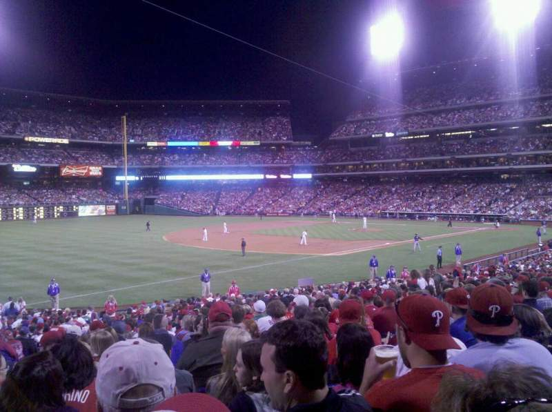 Seating view for Citizens Bank Park Section 136