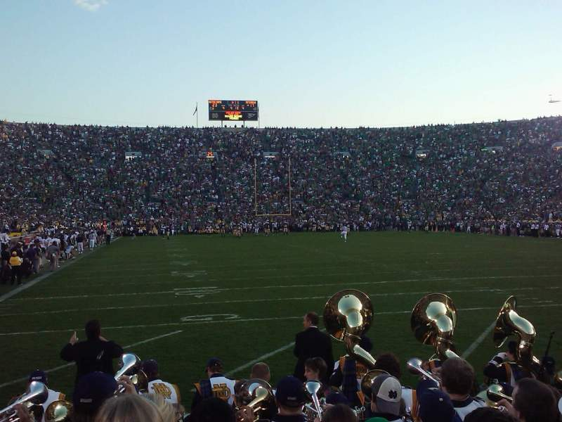 Seating view for Notre Dame Stadium Section 2 Row 6 Seat 11