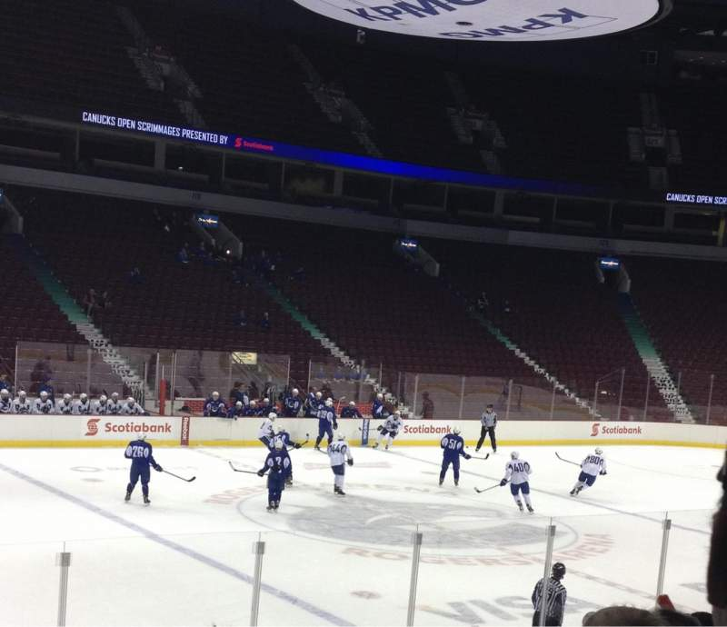 Rogers Arena, section: 109, row: 9, seat: 2