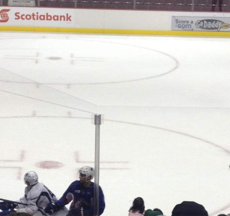 Rogers Arena, section: 110, row: 8, seat: 5
