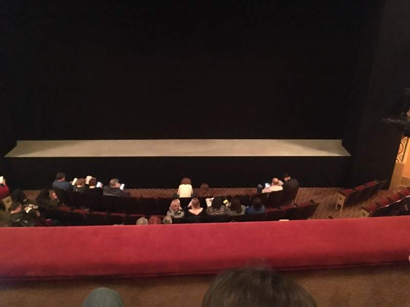 Seating view for Bernard B. Jacobs Theatre Section Mezzanine C Row B Seat 108