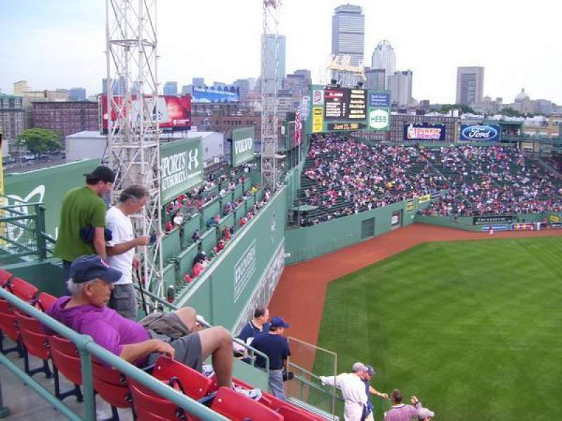 Fenway Park Section Coca Cola Corner Row Sro Seat Sro